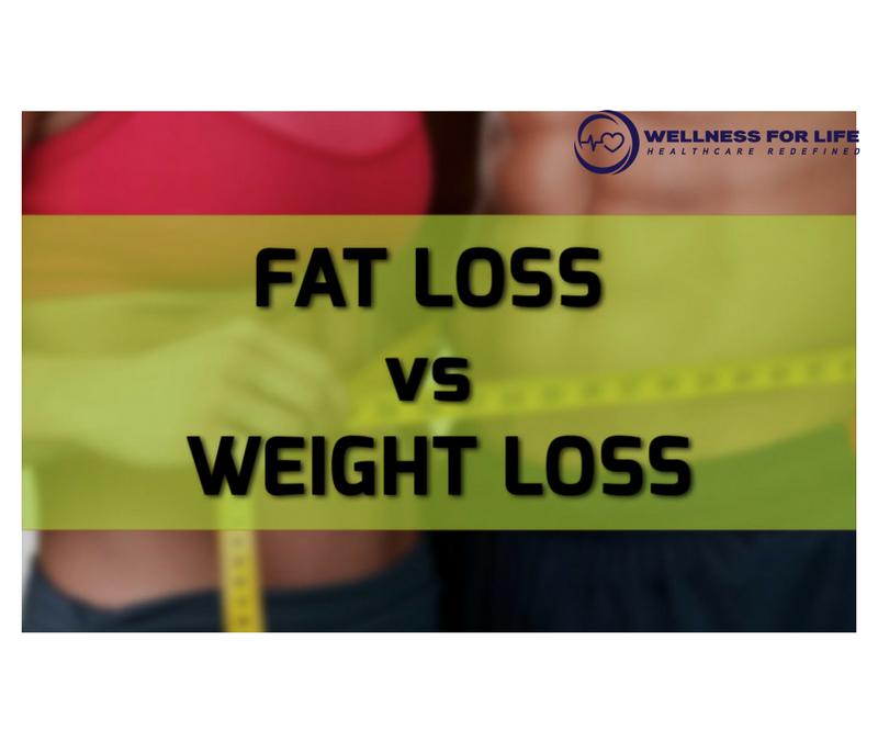 Difference between Fat Loss and Weight Loss